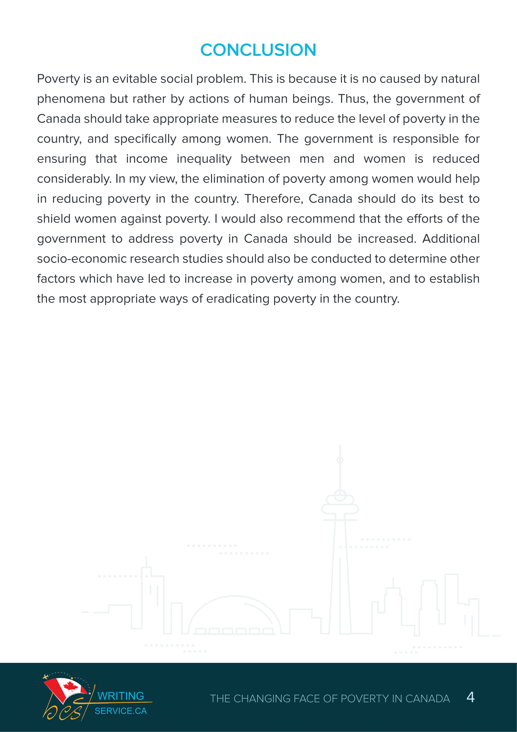 poverty in canada essay 4